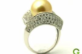 Abigail 18K Golden South Sea Pearl Ring