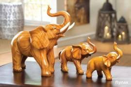 Safari Elephant Head Lamp Figurine